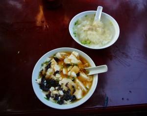 豆腐花+云吞